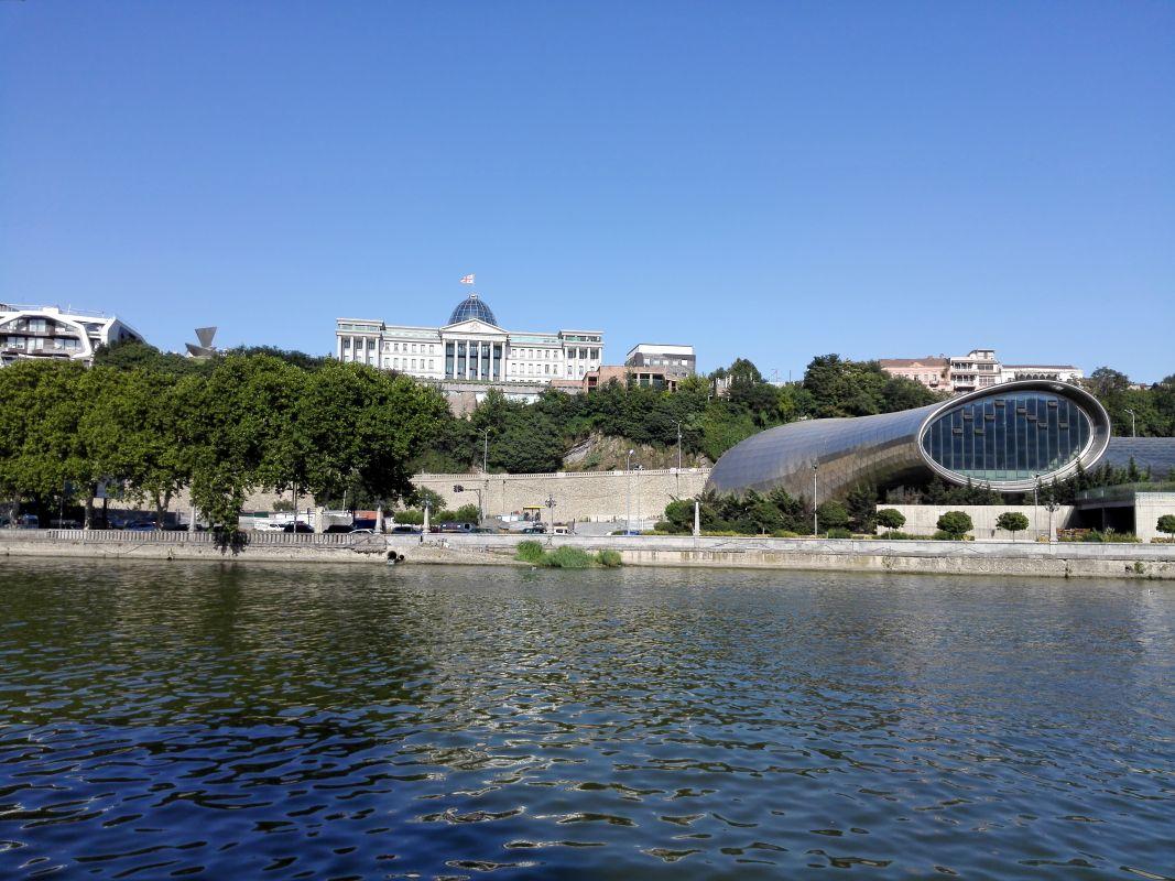 Moderne Architektur unter dem Präsidentenpalast